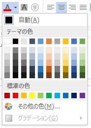 文字の編集と設定文字の色