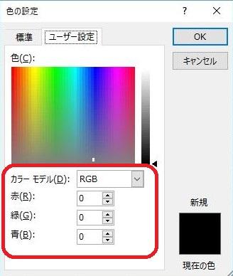 数値と色を確認