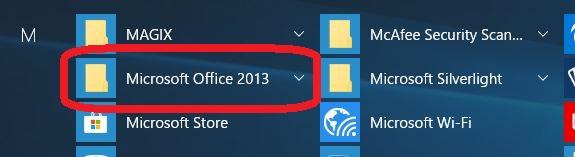 Microsoft Officeをクリック